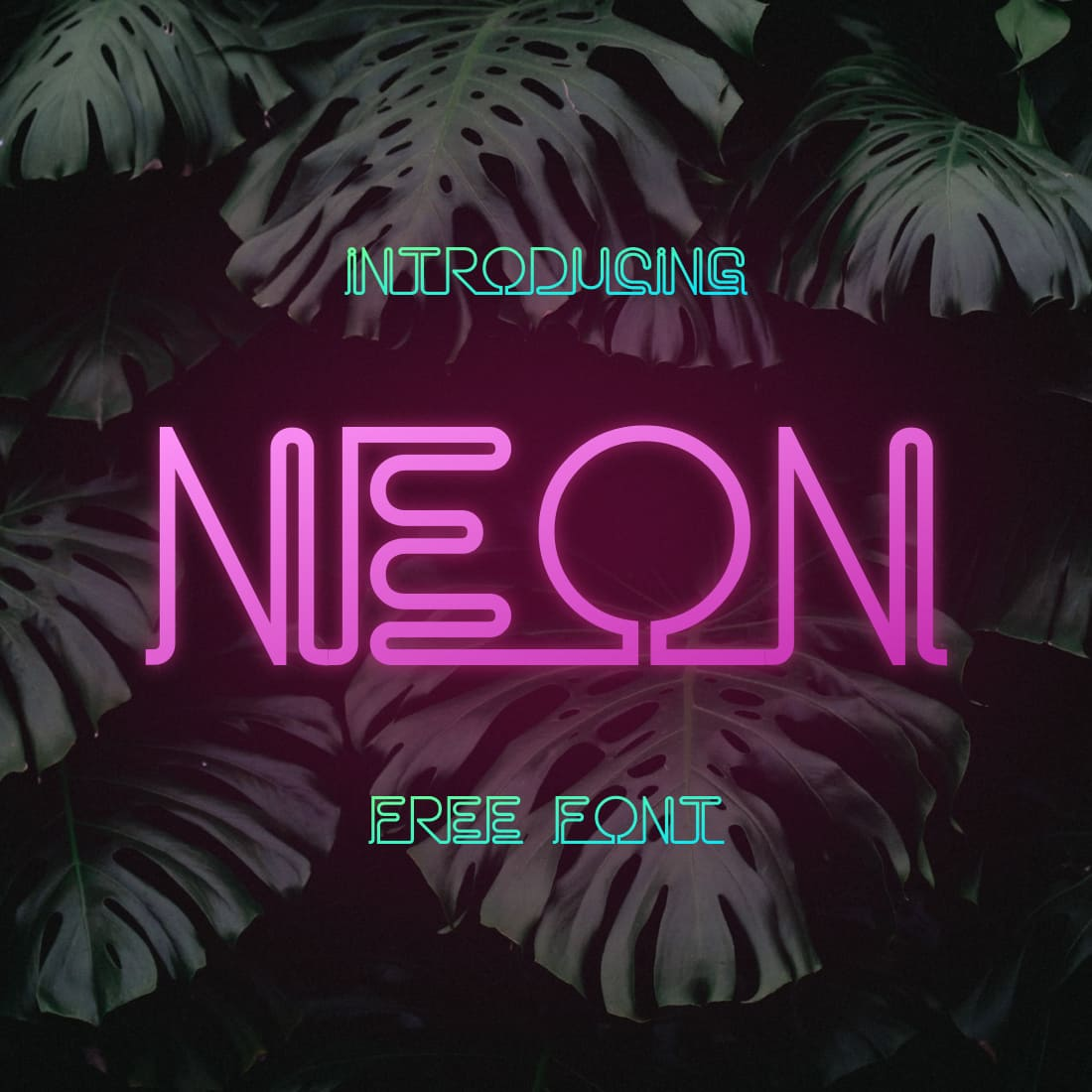 Main preview image for neon font free by MasterBundles.