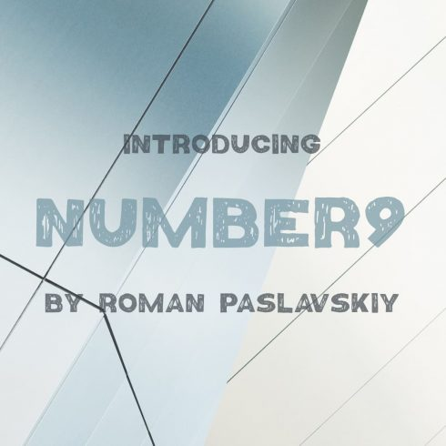 Cool number font free cover preview by MasterBundles.