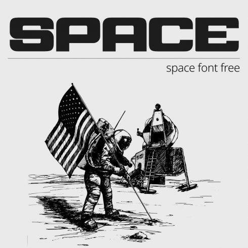 Space font free Cover collage image by MasterBundles.