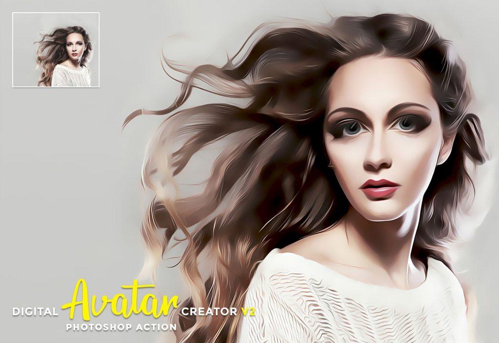 Digital Avatar Creator v2. Modern Art Painting.