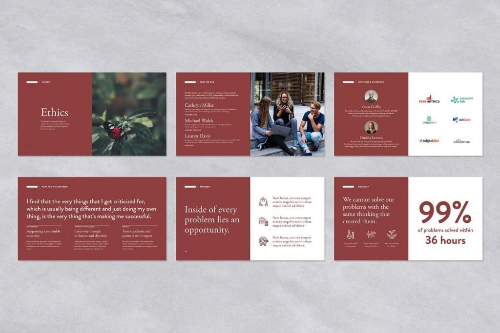 Preview of Red Pitch Deck Powerpoint Presentation Template.