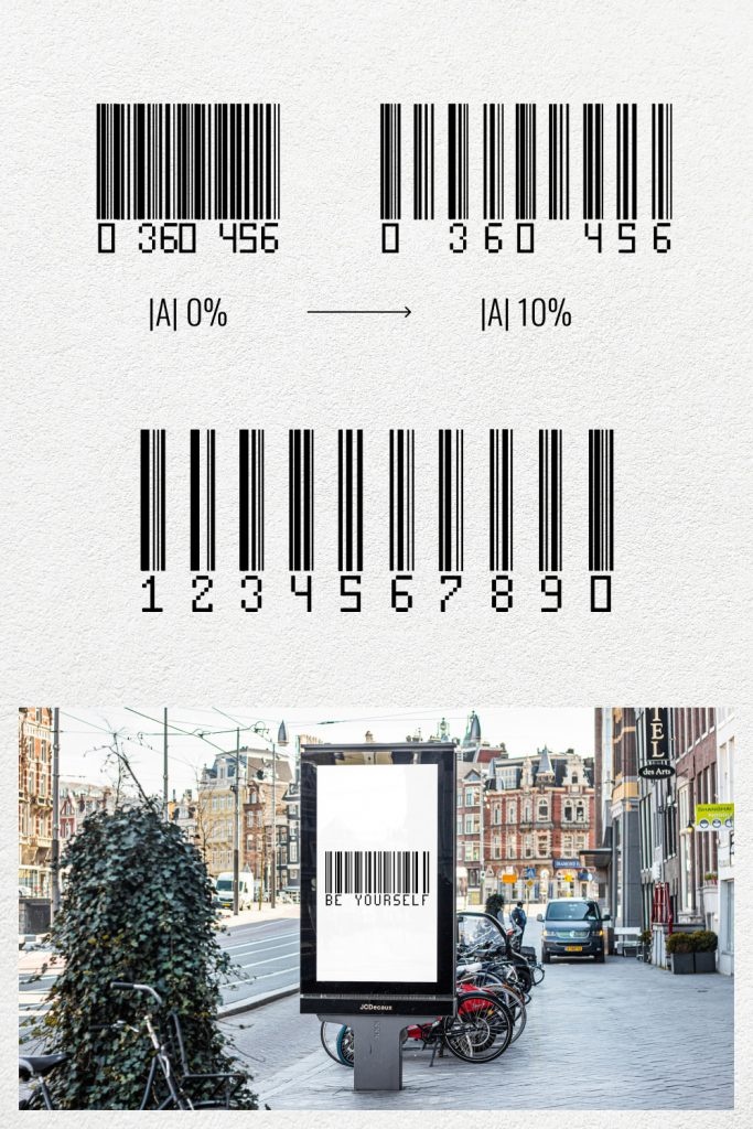 Pinterest image collage for Amazing free barcode font by MasterBundles.
