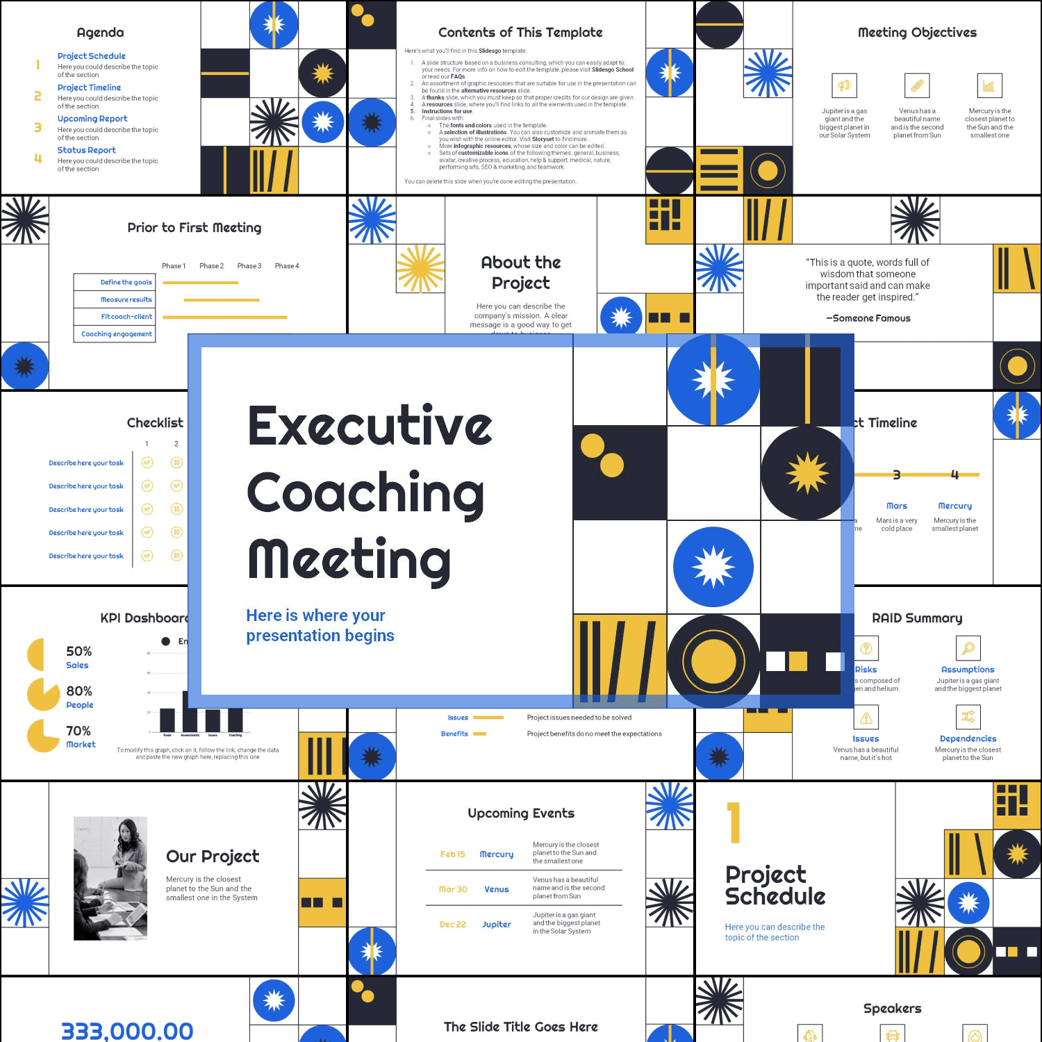 Collage image for Executive Coaching Meeting Presentation.
