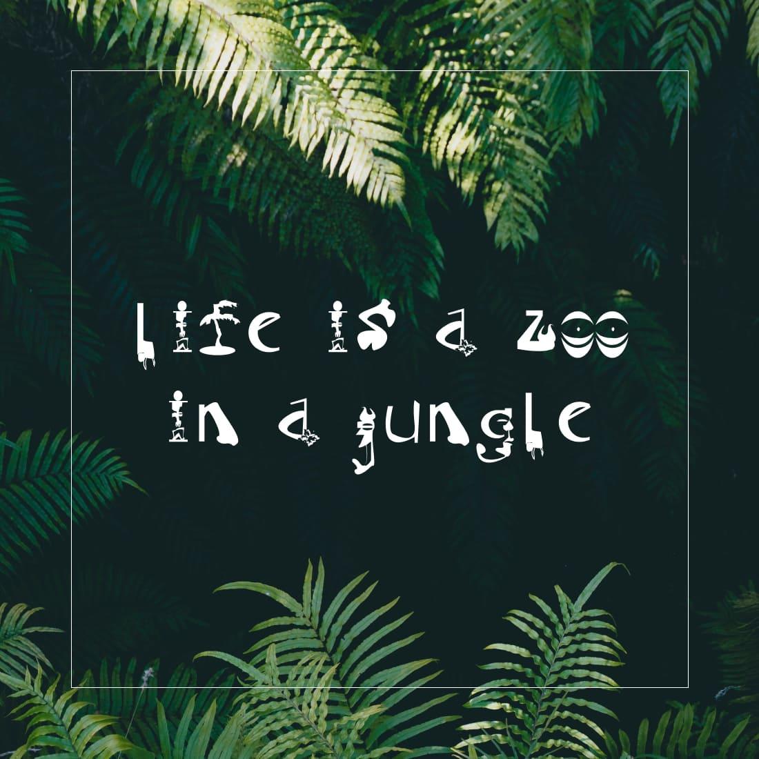 Phrase example with Free tiki font.