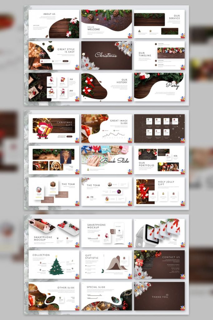 02 Holy Joly Christmas Template by MasterBundles Pinterest Collage Image.