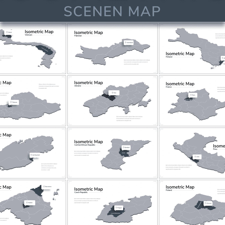 Isometric Map Presentation.