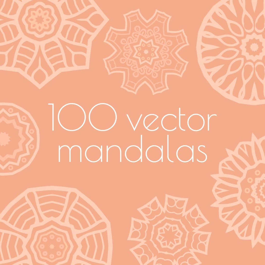 100 Free vector mandalas preview by MasterBundles.