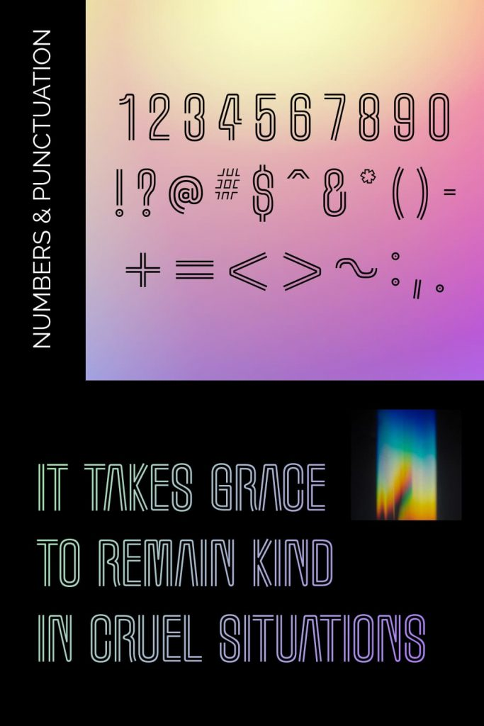 Marquee Moon free marquee font Pinteres preview with Numbers and Punctuation.