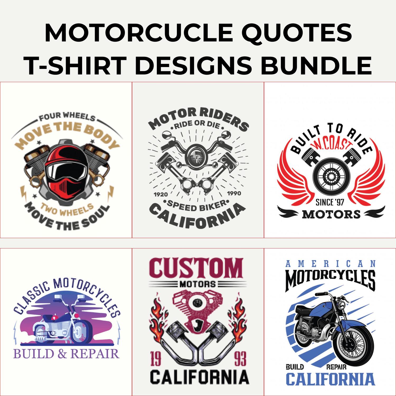 Motorcycle T-shirt Design Bundle.