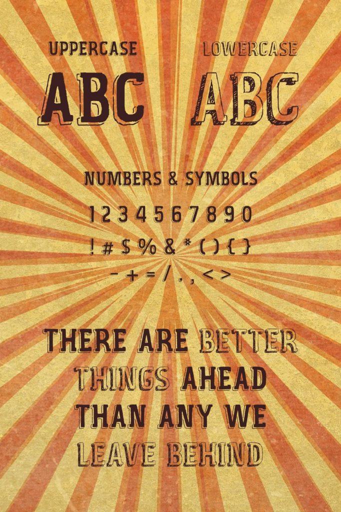 Pinterest image for Vintage Fair free font.