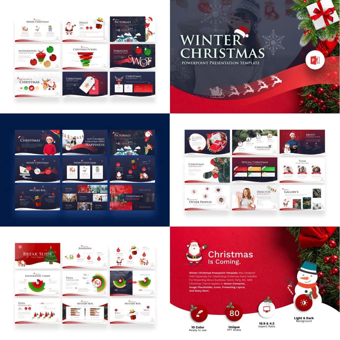 Winter Christmas PowerPoint Template.