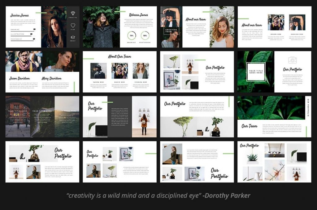 Lots of layout variations Fitri - Creative PowerPoint Template.