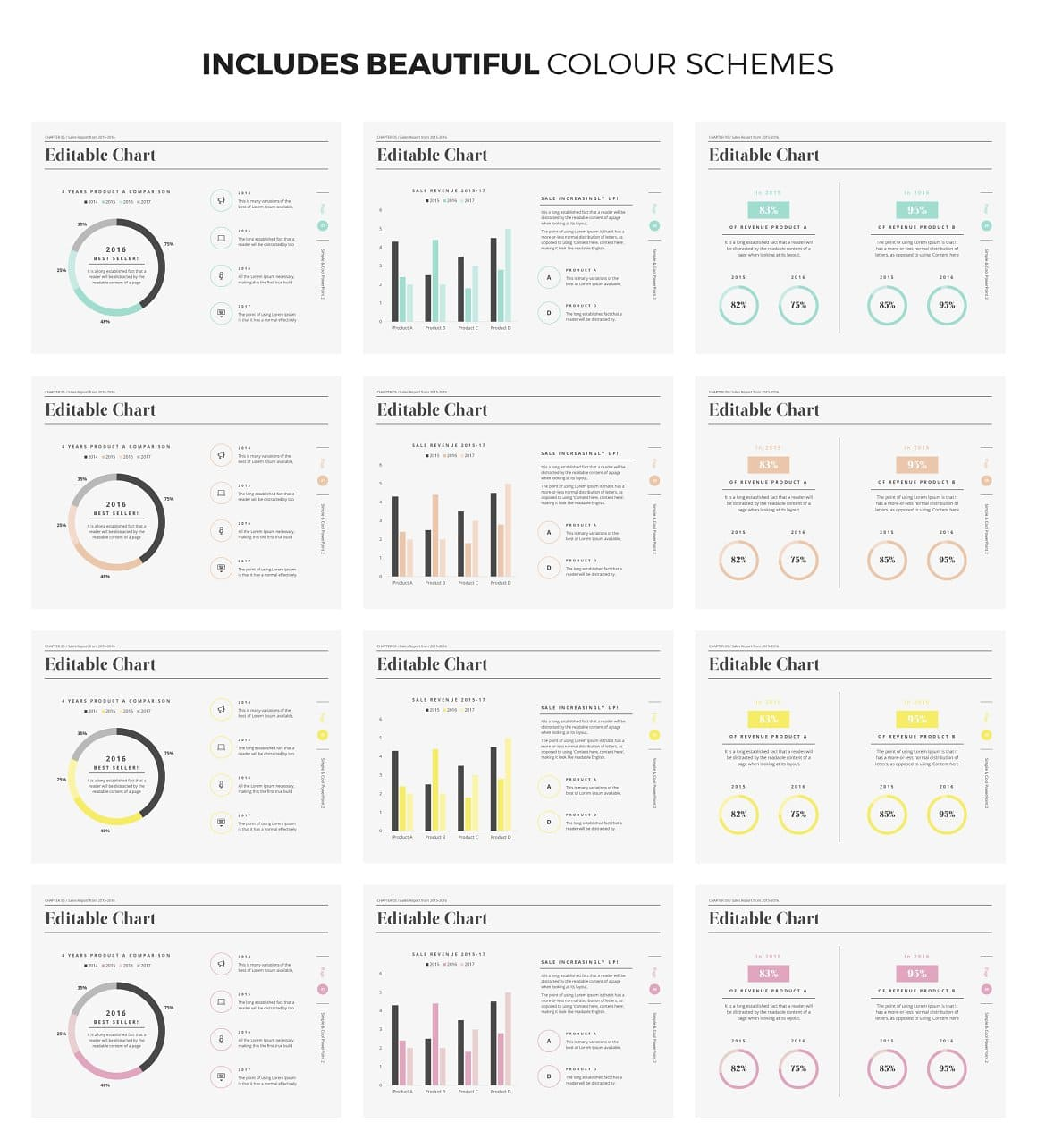Color Schemes and Graphics Simple & Cool PowerPoint Template 2.