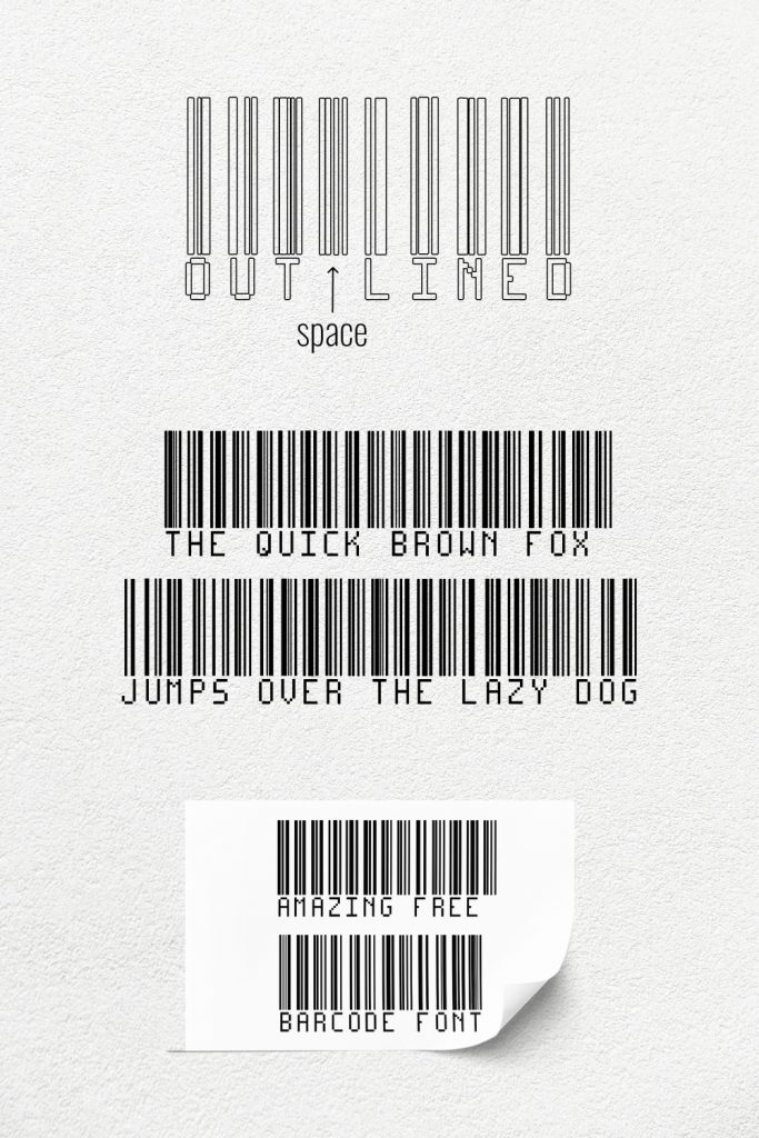 Pinterest preview Amazing free barcode font for your project.