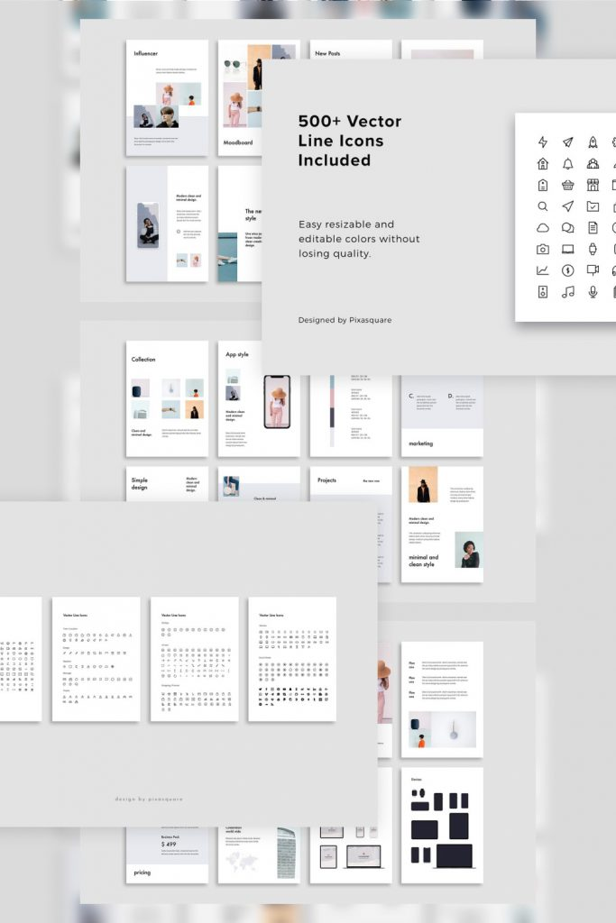 FORM - Powerpoint Vertical Template by MasterBundles Pinterest Collage Image.