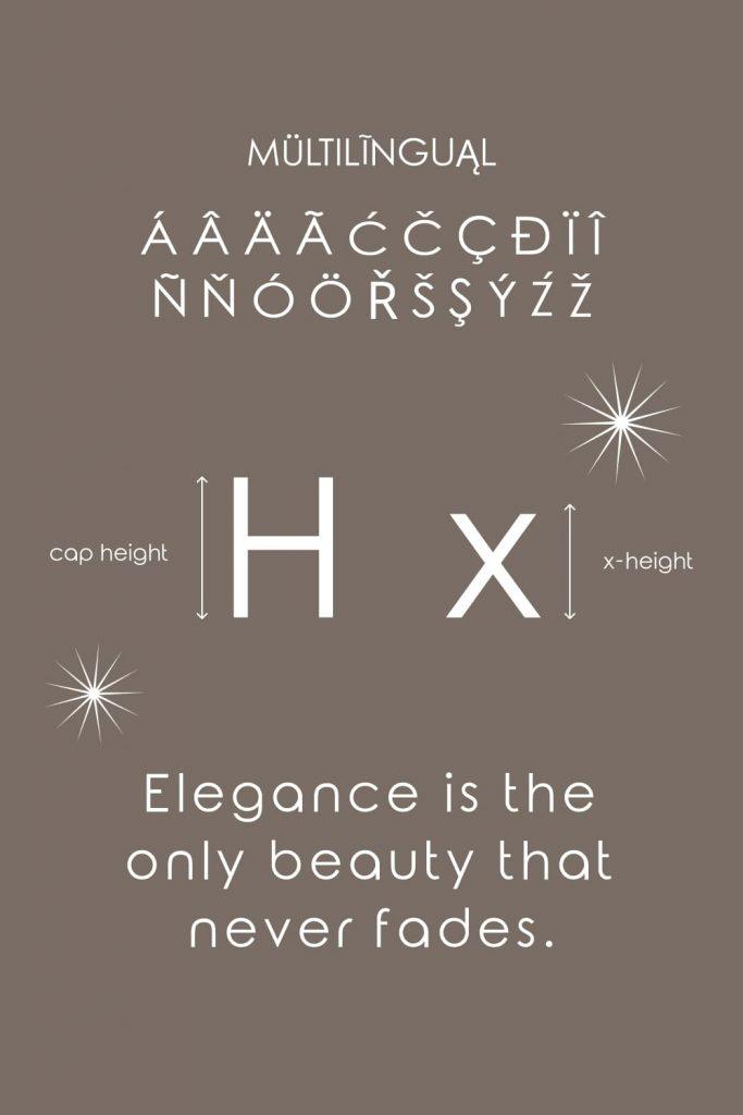 Free elegance font Pinterest preview by MasterBundles.