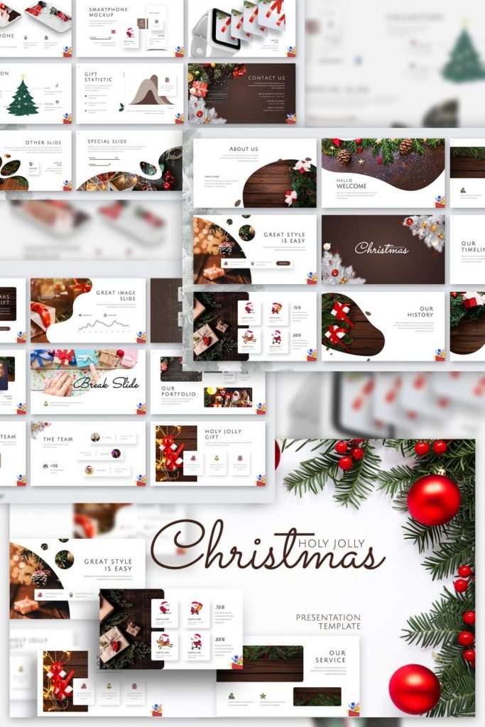 03Holy Joly Christmas Template by MasterBundles Pinterest Collage Image.