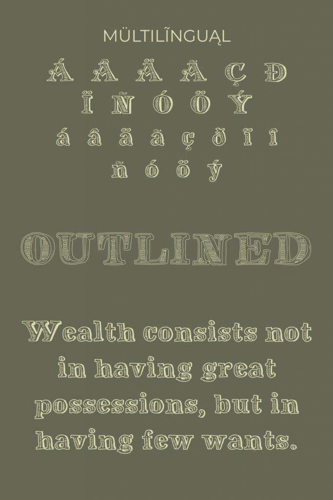 Pinterest image by MasterBundles for Perfect free money font.
