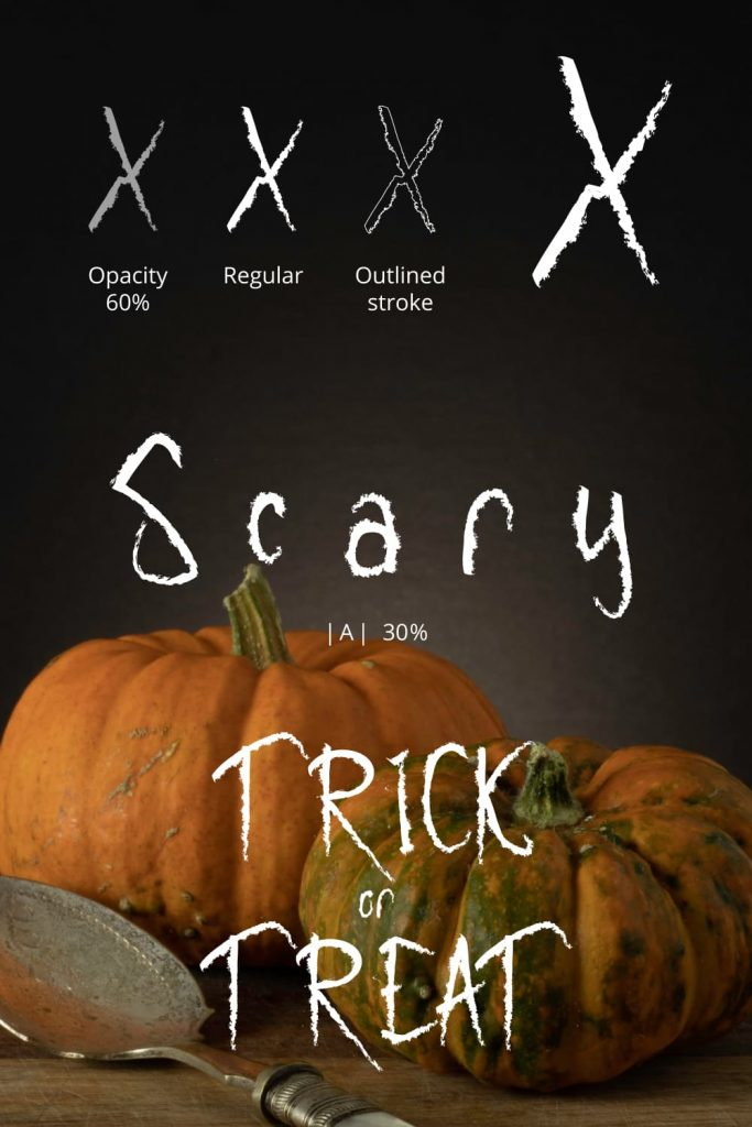 Scary Free halloween font Pinterest preview by MasterBundles.
