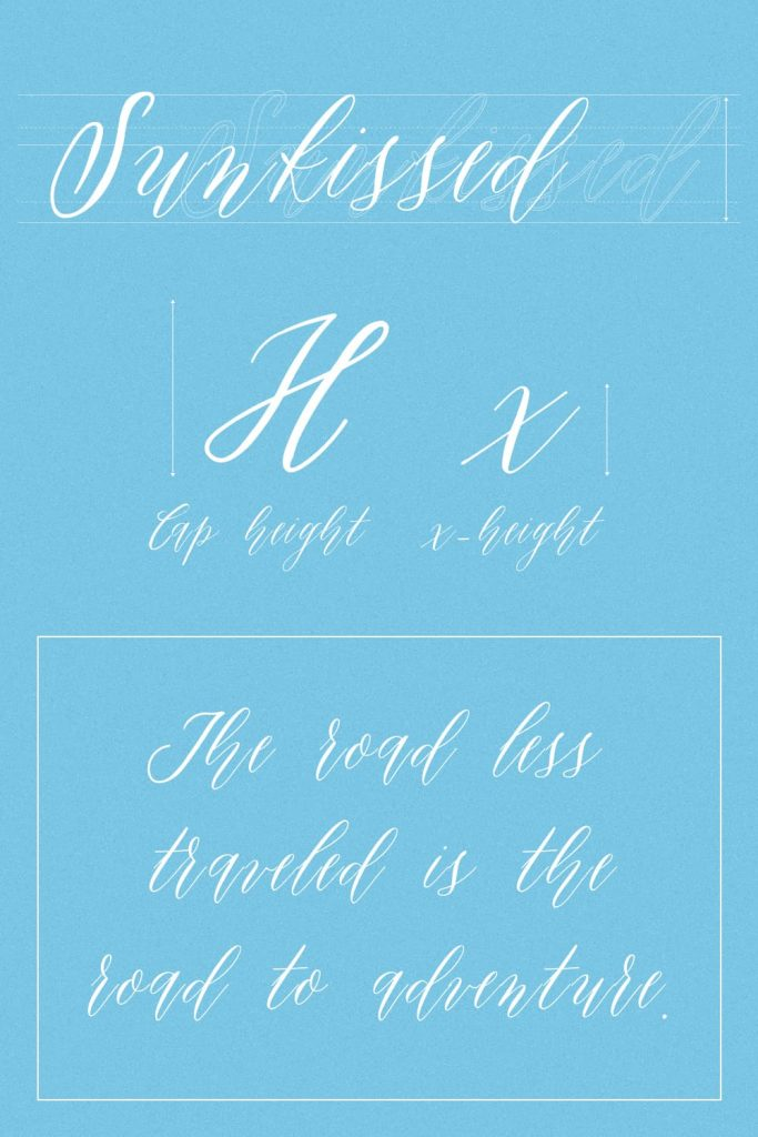 Sunkissed Awesome Handwriting Font Pinterest Preview.