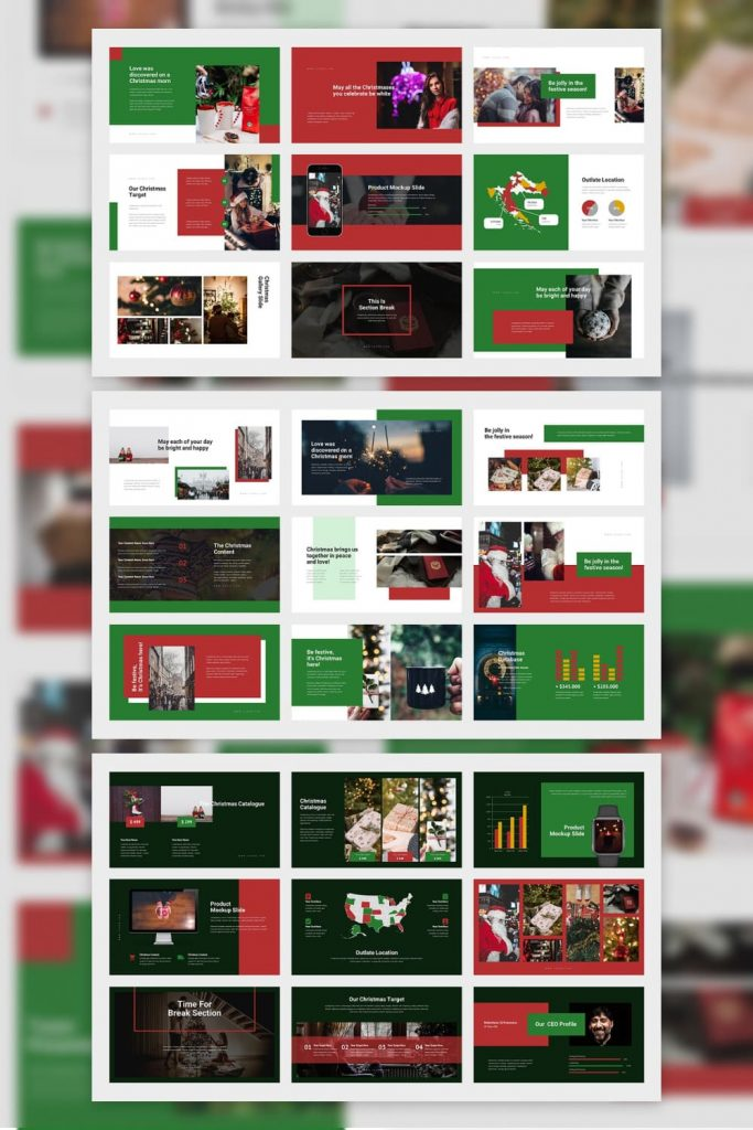 03 Tuzeo: Christmas Event Powerpoint by MasterBundles Pinterest Collage Image.