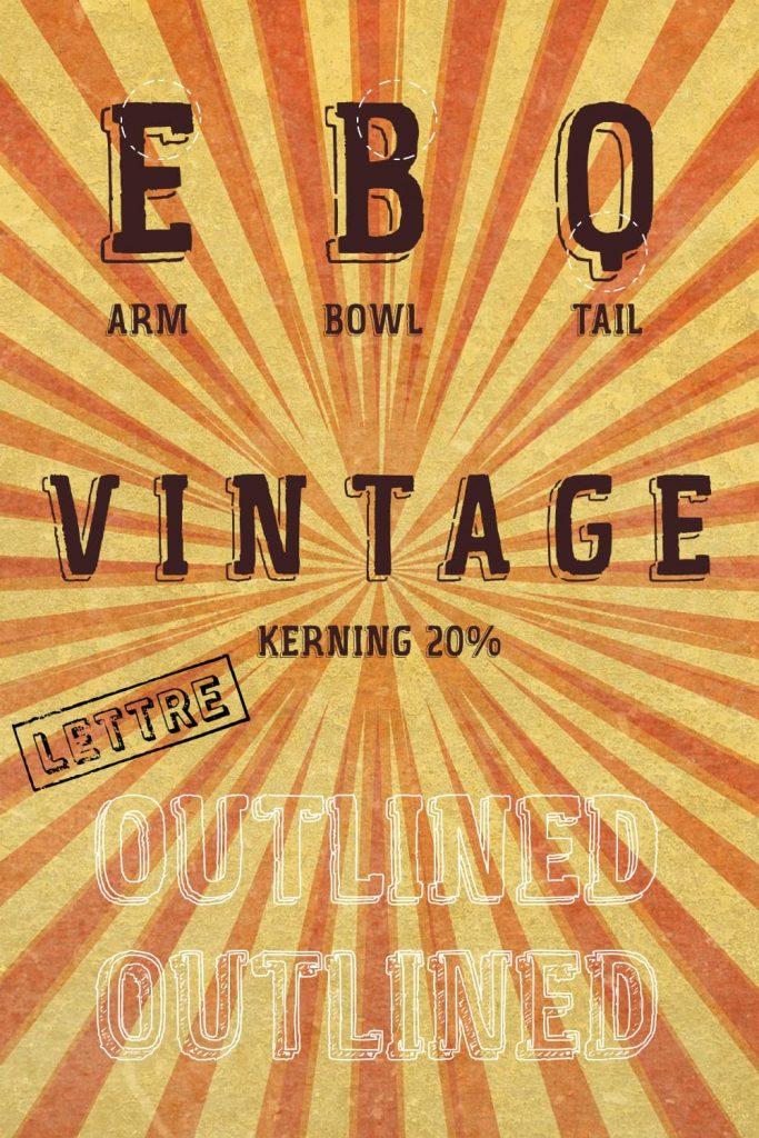 Vintage Fair free font Pinterest collage by MasterBundles.
