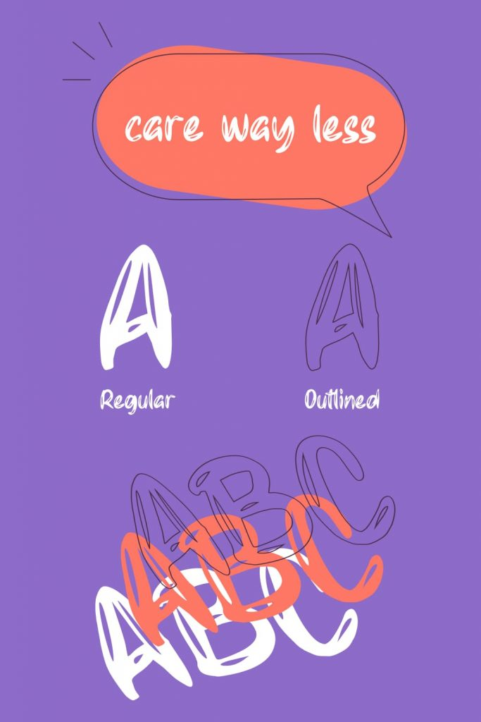Regular and Outlined letter with Free balloon font Pinterest.