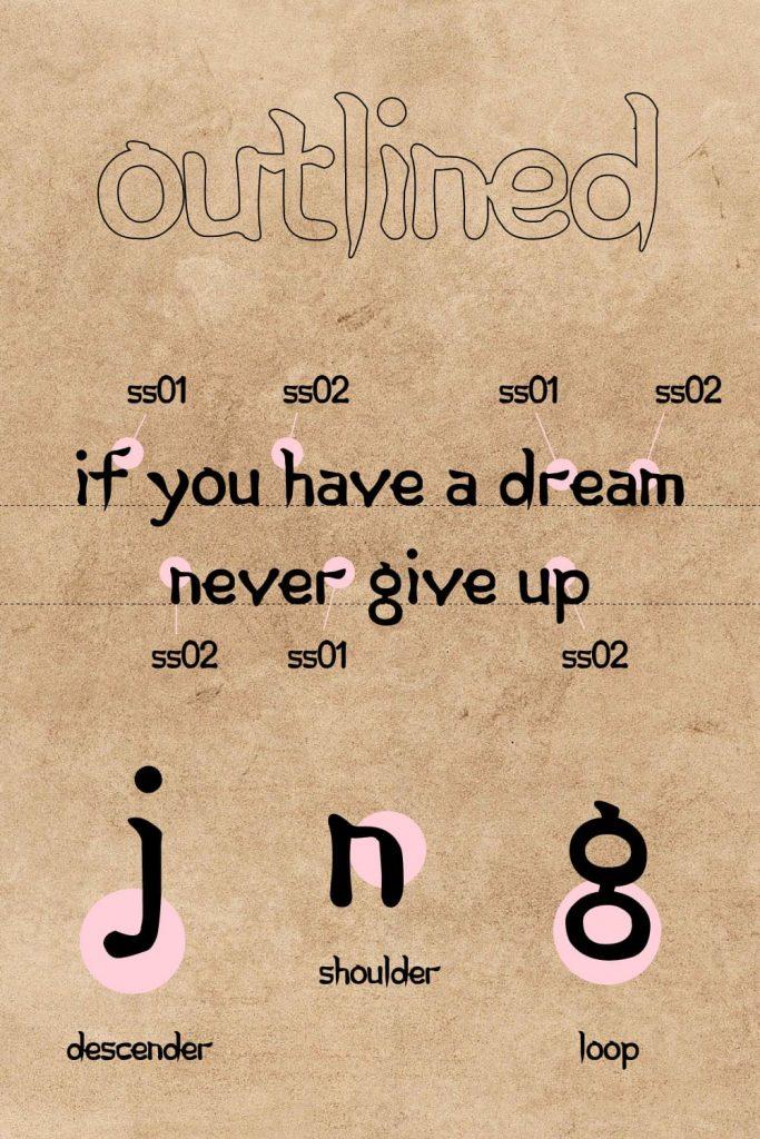Pinterest preview for Free korean font MasterBundles.