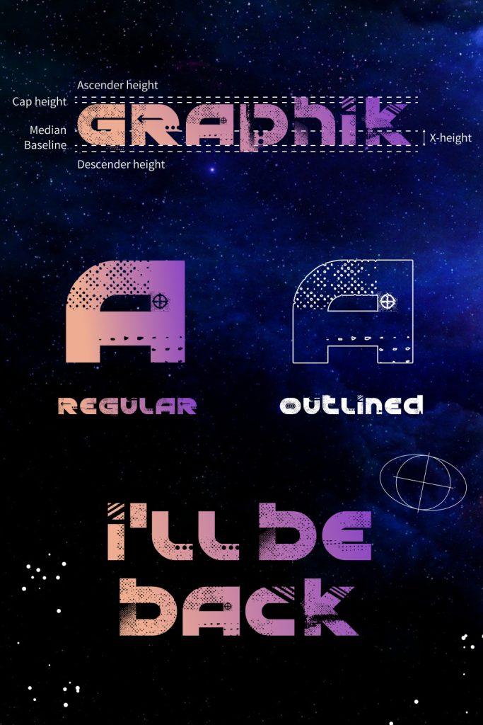 Graphik font free Pinterest collage by MasterBundles.