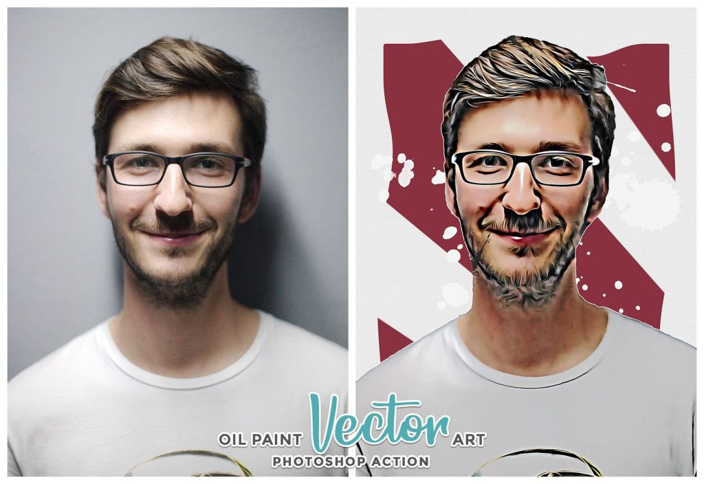 Oil paint vector art.