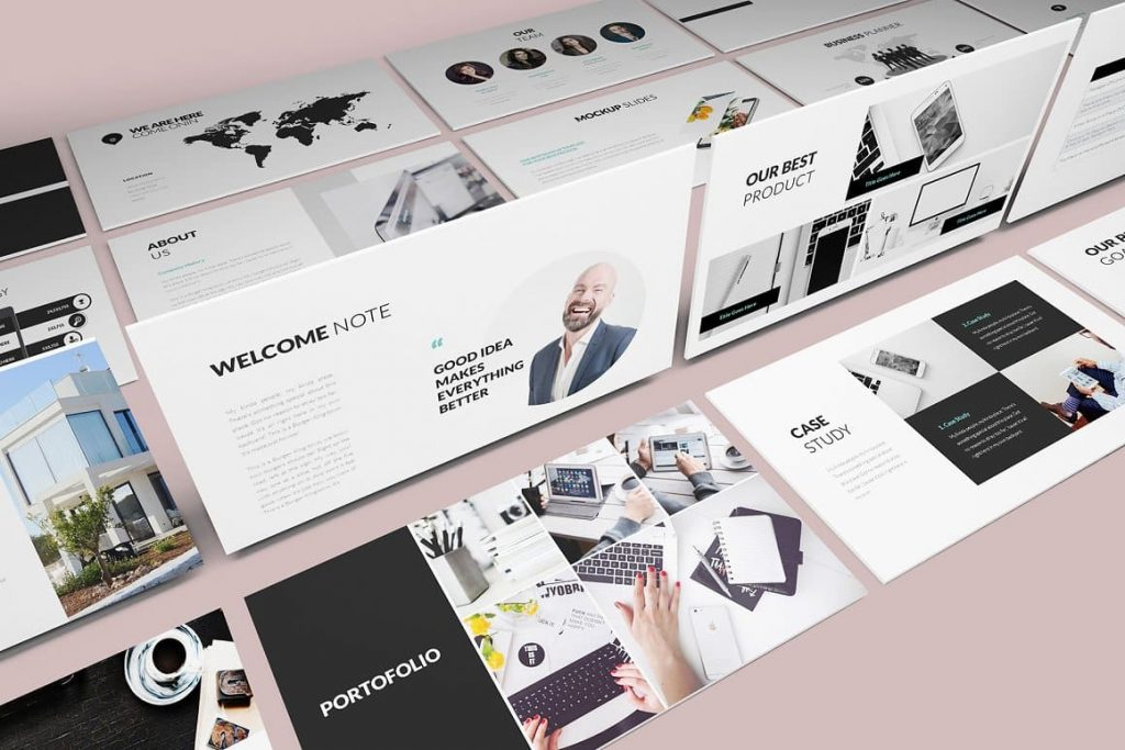 Content Pitch Deck Powerpoint Template.