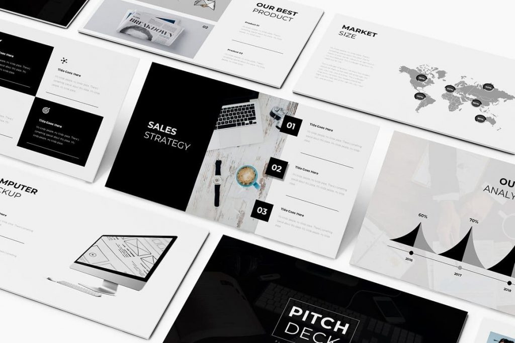 Animated Pitch Deck Presentation Template Slides.