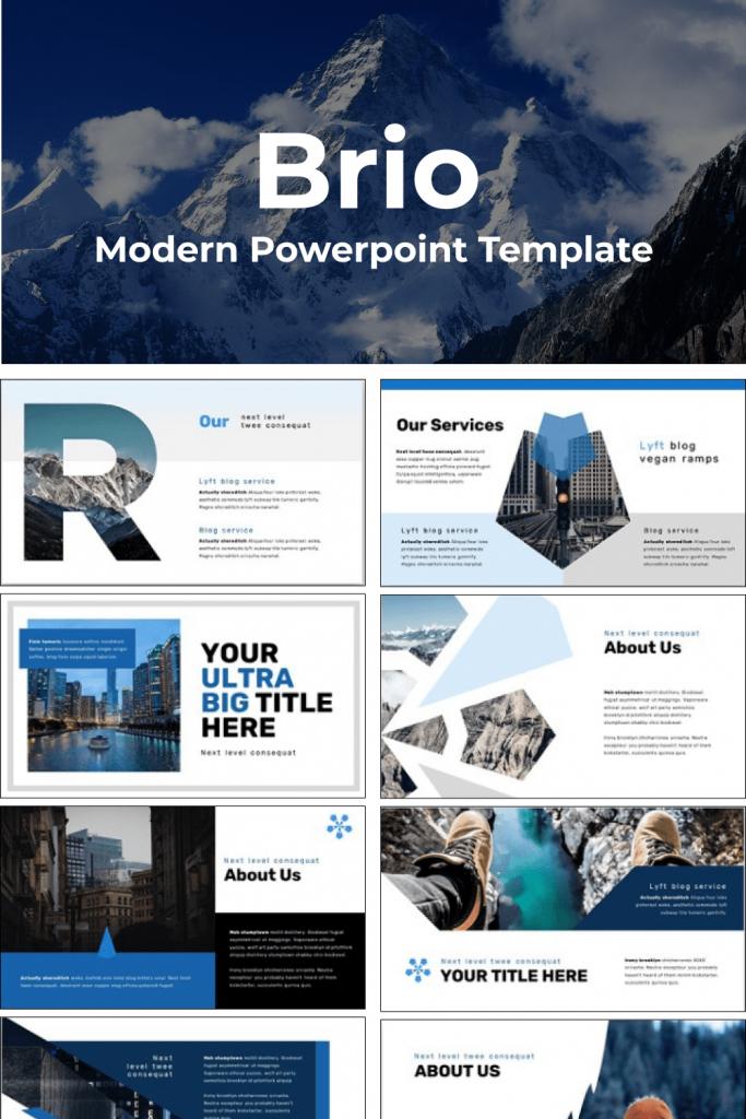 Brio Business Powerpoint Template by MasterBundles Pinterest Collage Image.