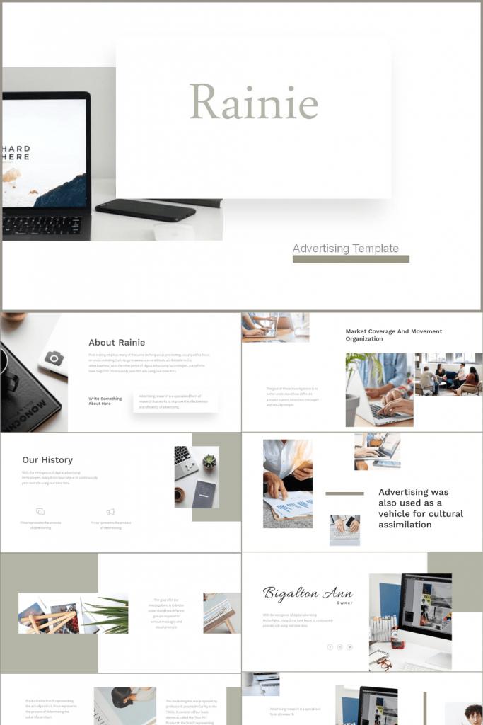 Advertising Presentation by MasterBundles Pinterest  Collage Image.