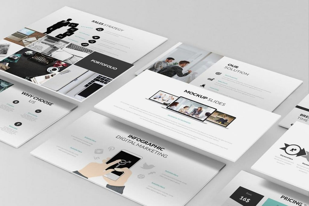 Slide Preview Pitch Deck Powerpoint Template.