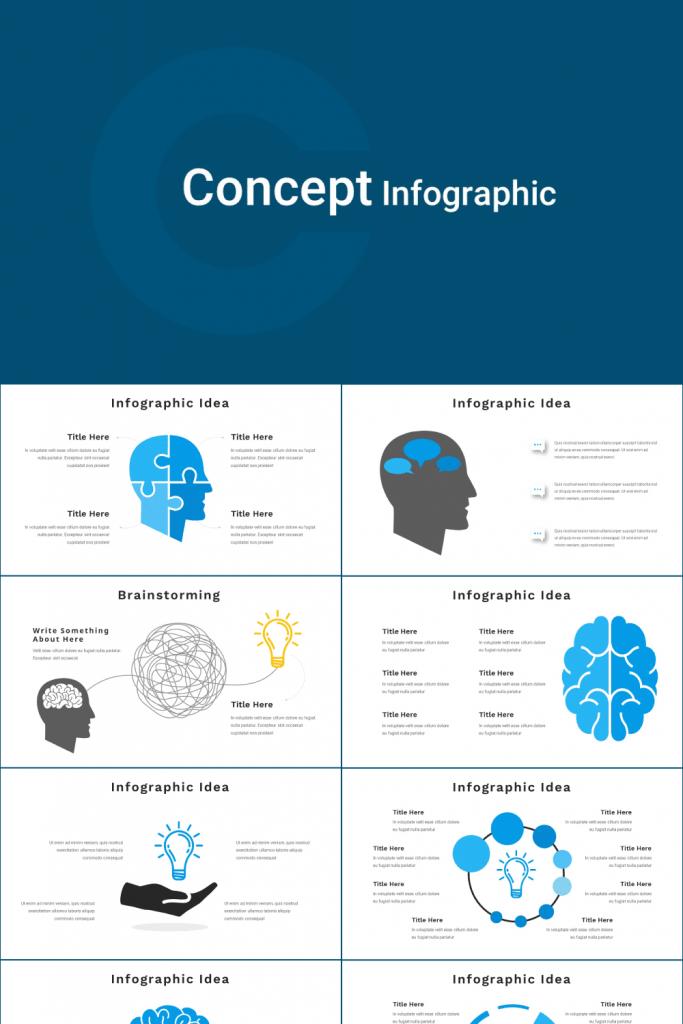 Concept Infographic Presentation by MasterBundles Pinterest Collage Image.