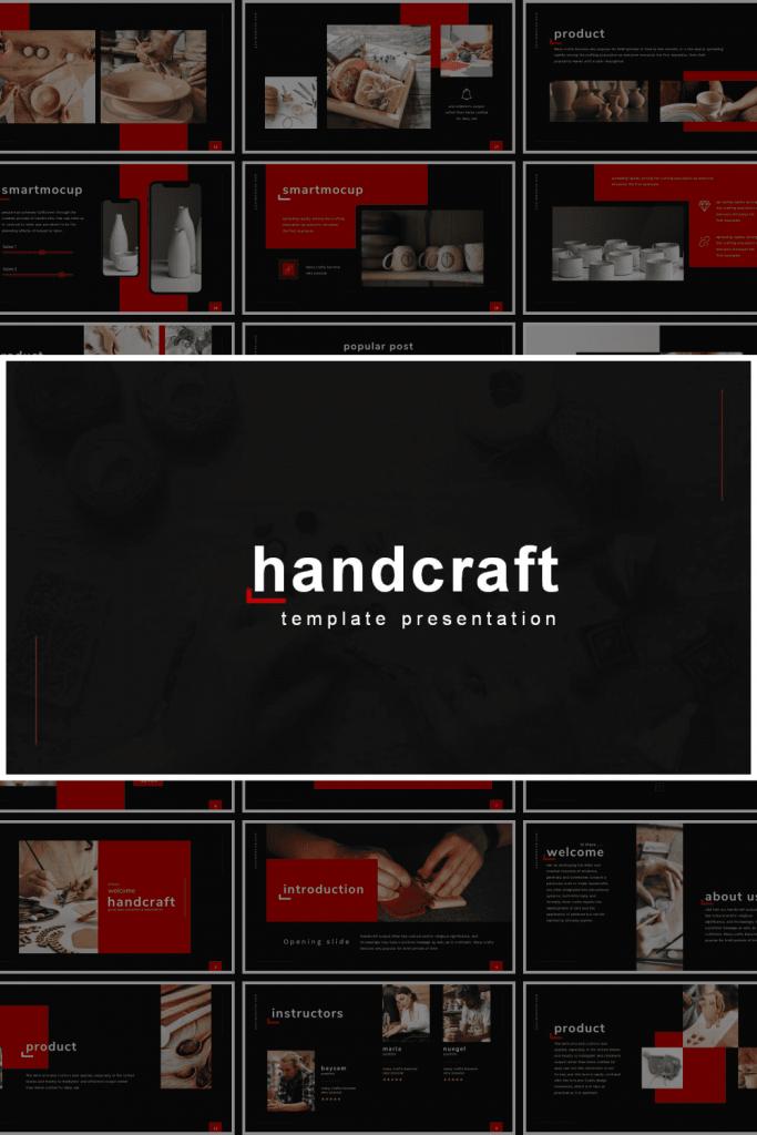 Handcraft Presentation: Powerpoint, Keynote, Google Slides by MasterBundles Pinterest Collage Image.