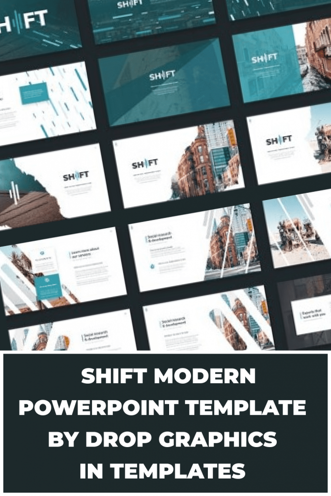 Shift Modern Powerpoint Template by MasterBundles Pinterest Collage Image.