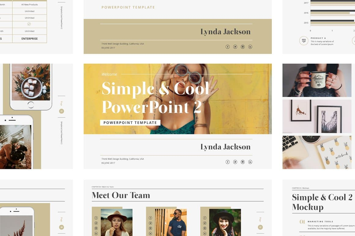2 aspect ratio Simple & Cool PowerPoint Template 2.