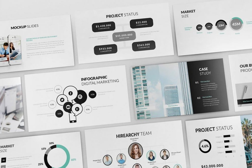 Pitch Deck Powerpoint Template Content Preview.