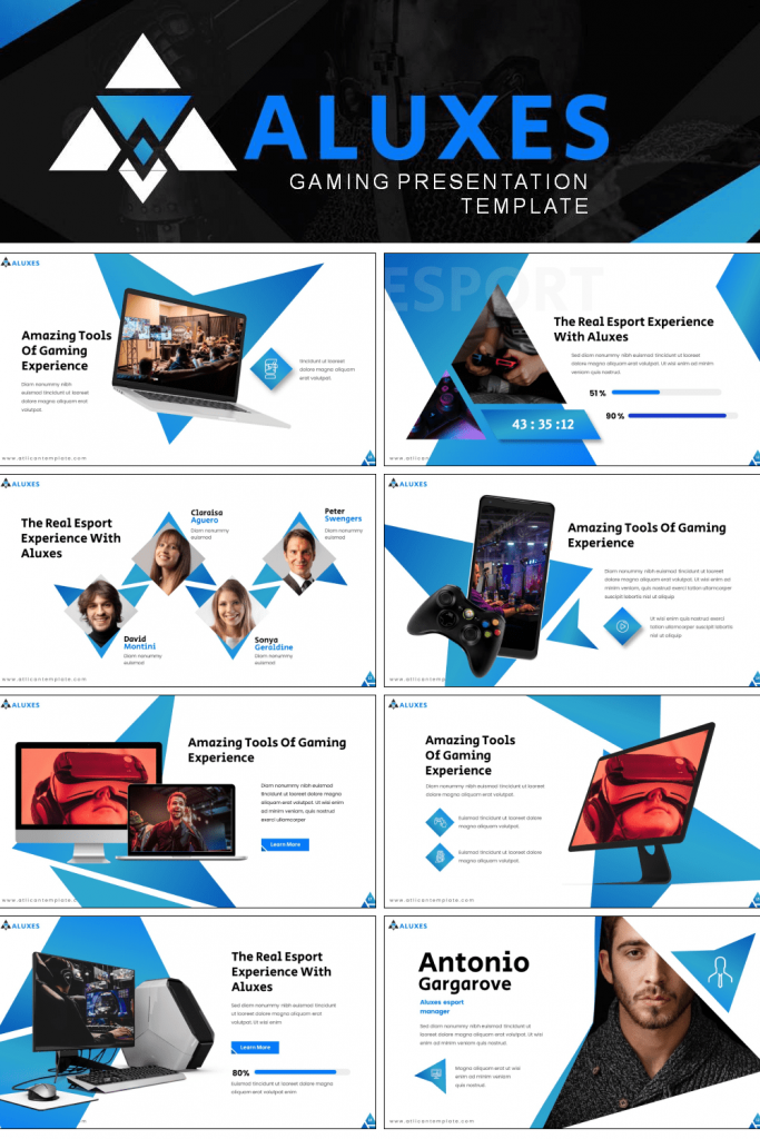 Atlican Presentation: Powerpoint, Keynote, Google Slides by MasterBundles Pinterest Collage Image.