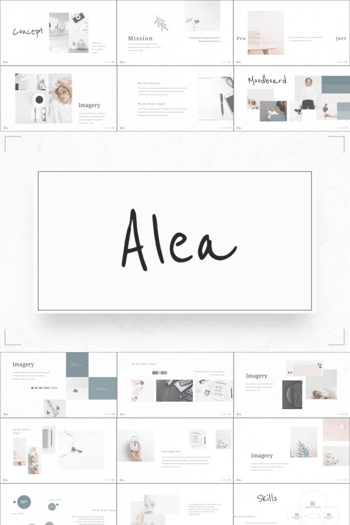 Minimalist Presentation: Powerpoint, Keynote, Google Slides by MasterBundles Pinterest  Collage Image.