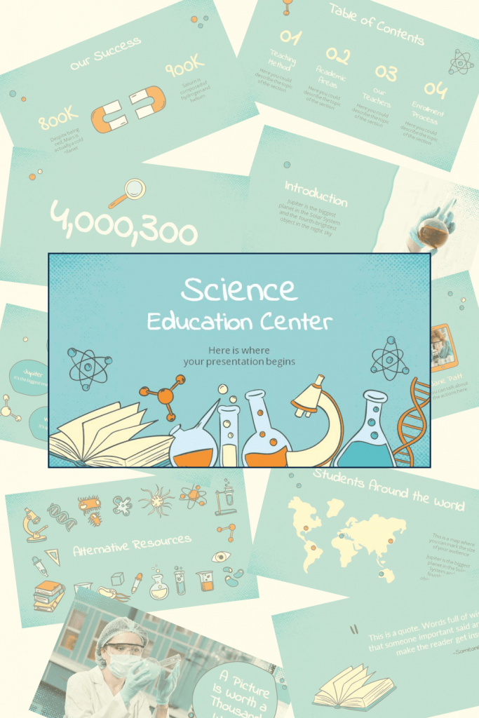This template is designed for a scientific theme for little ones.  That is, the game for experienced professors and academics may seem childish.