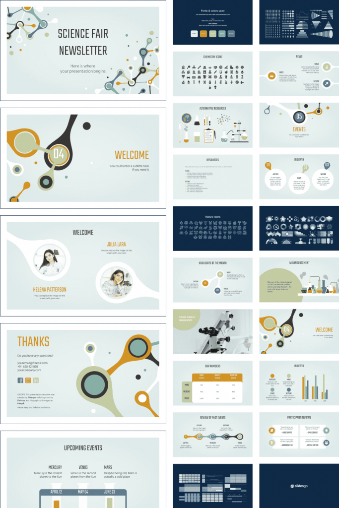 Science Fair Newsletter by MasterBundles Pinterest Collage Image.