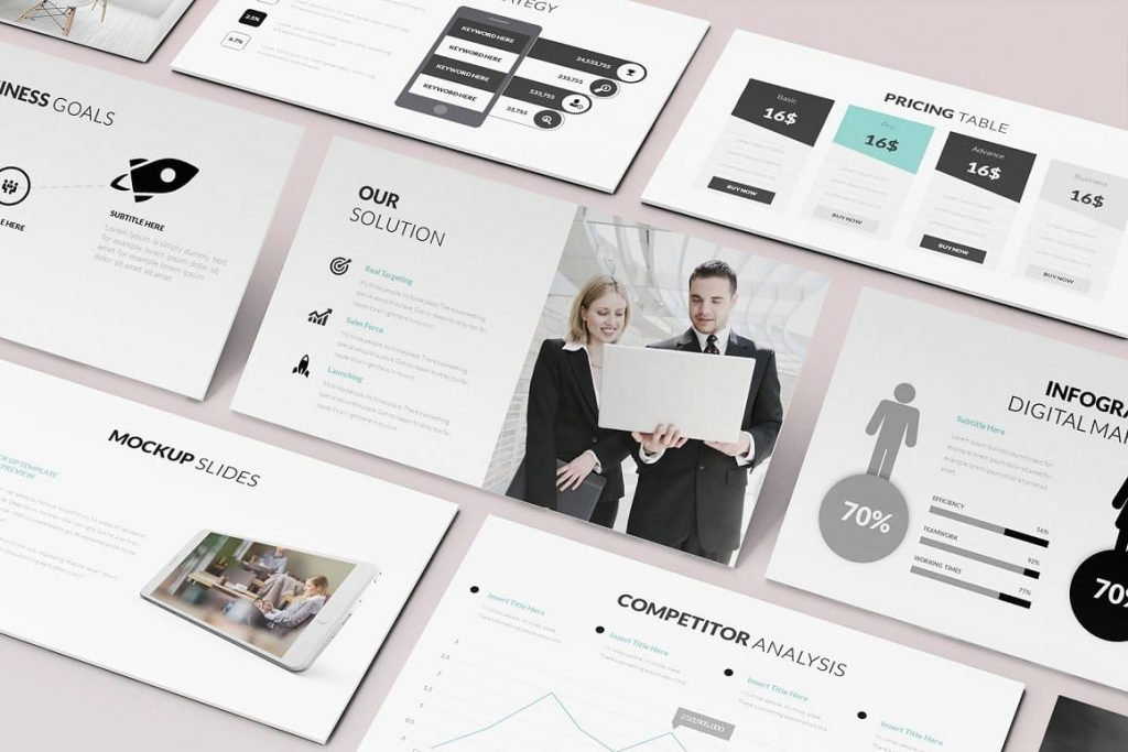 Image preview Pitch Deck Powerpoint Template.