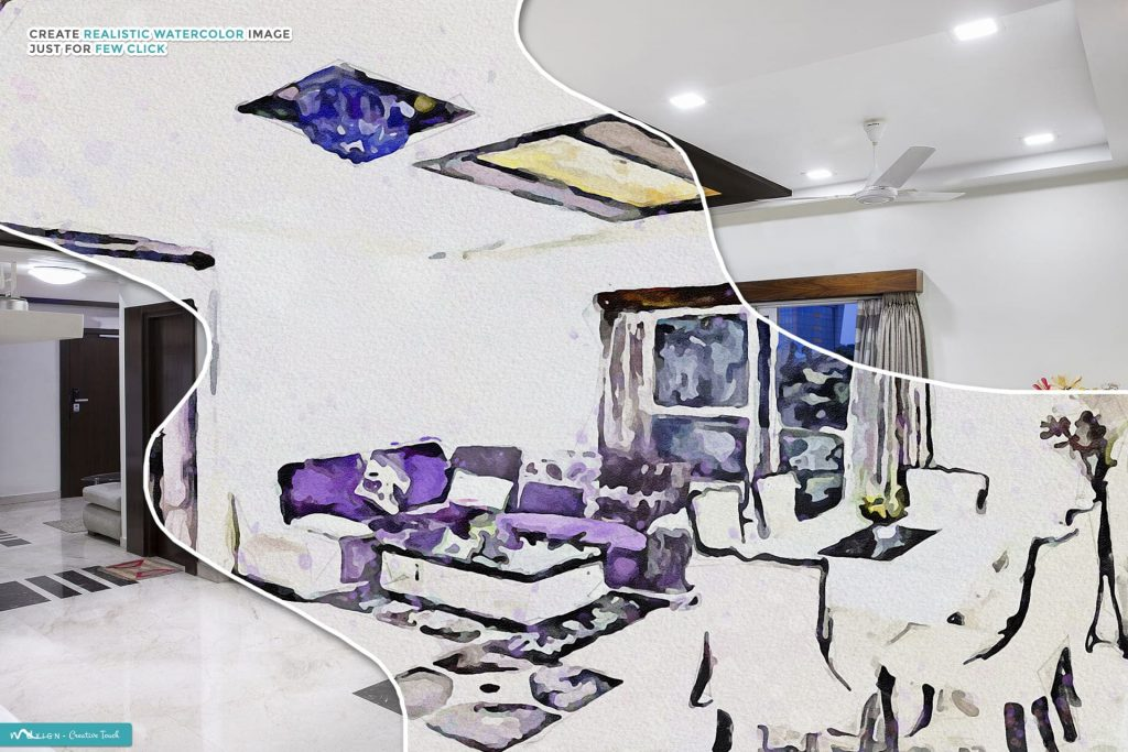 Paintor Digital Painting Art Room design. Modern Art Painting.