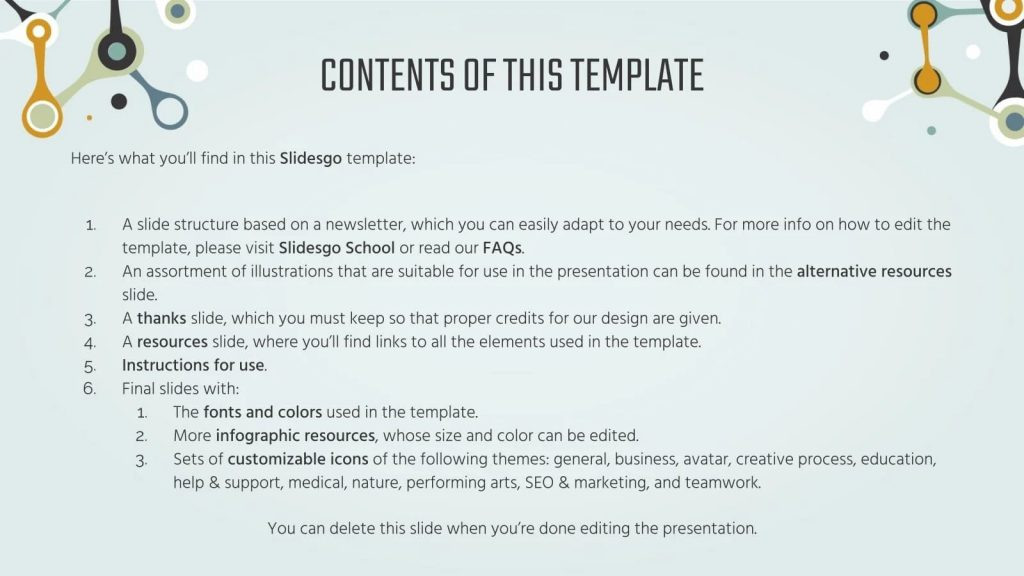 Contents of this Template. Free Science Fair Newsletter Powerpoint Template.