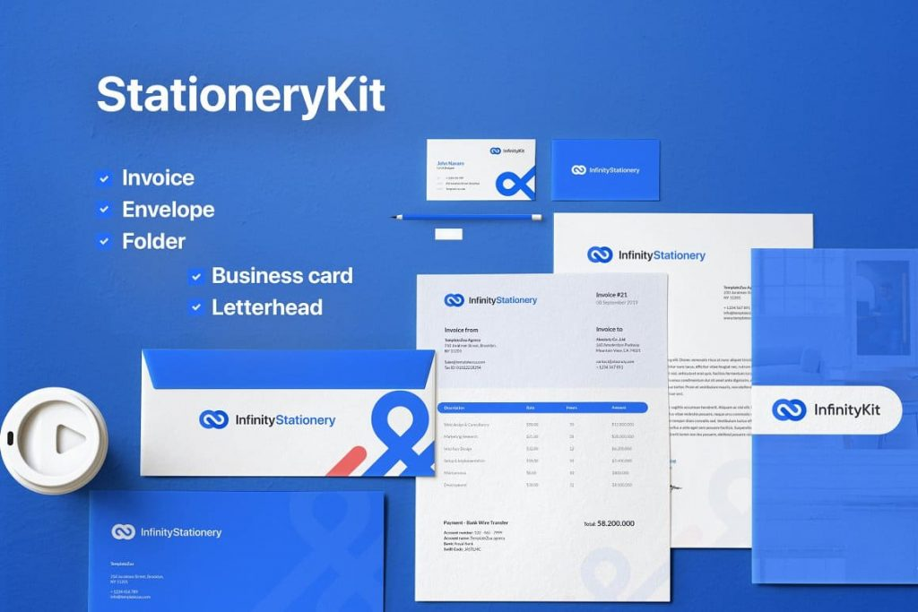 InfinityKit Stationery preview.