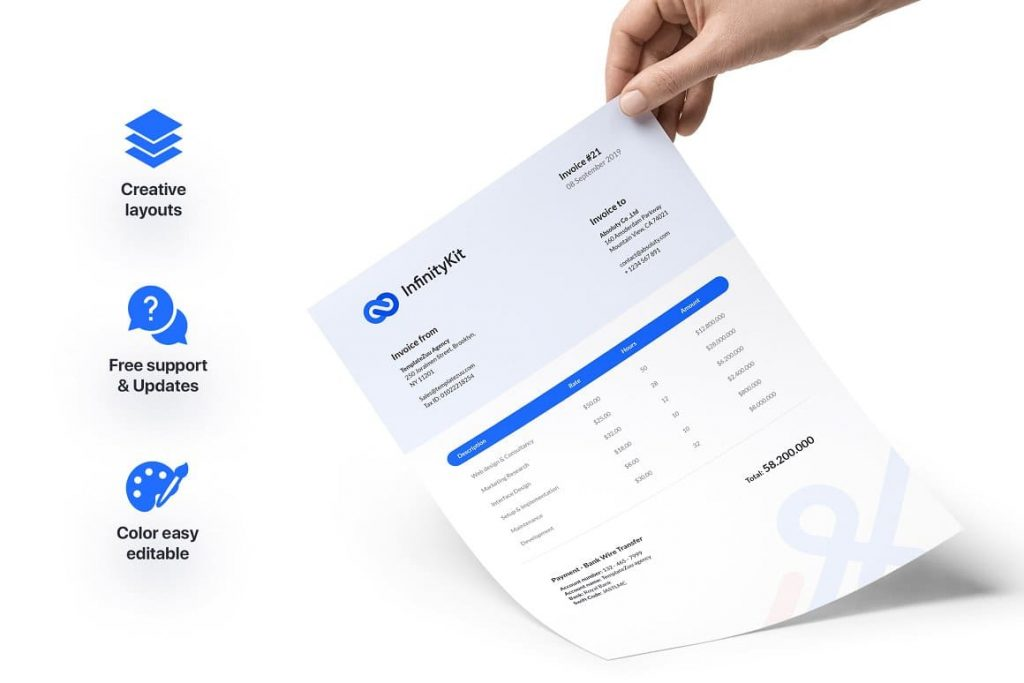 Features of InfinityKit Stationery.
