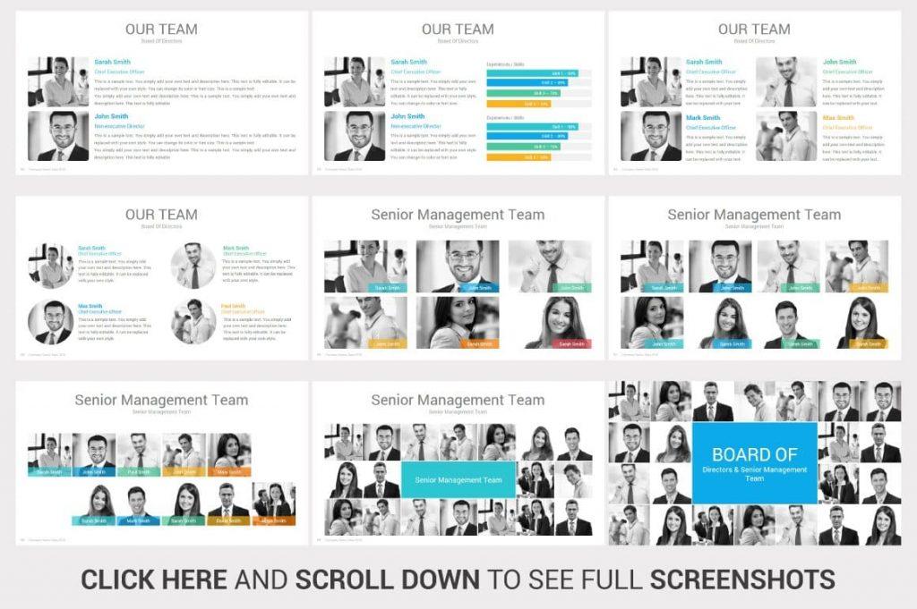 Senior Management Team Investors PowerPoint Pitch Decks.